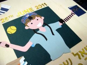 Handmade Bar Mitzvah guest book