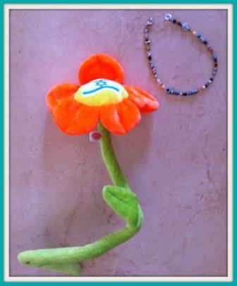 Israel flower and bracelet