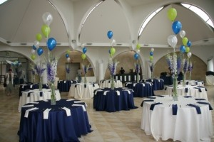 Blue, white and gold theme
