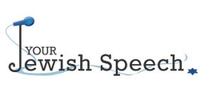your jewish speech logo black font 2